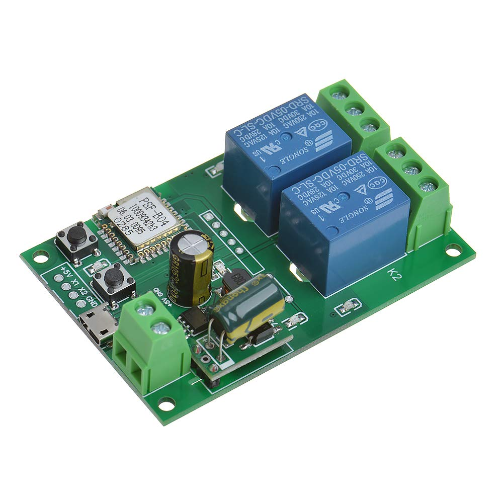 Anmbest 2 Channel Inching Self-locking Switch Module