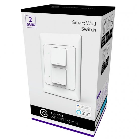 Connect SmartHome 2 Gang Wall