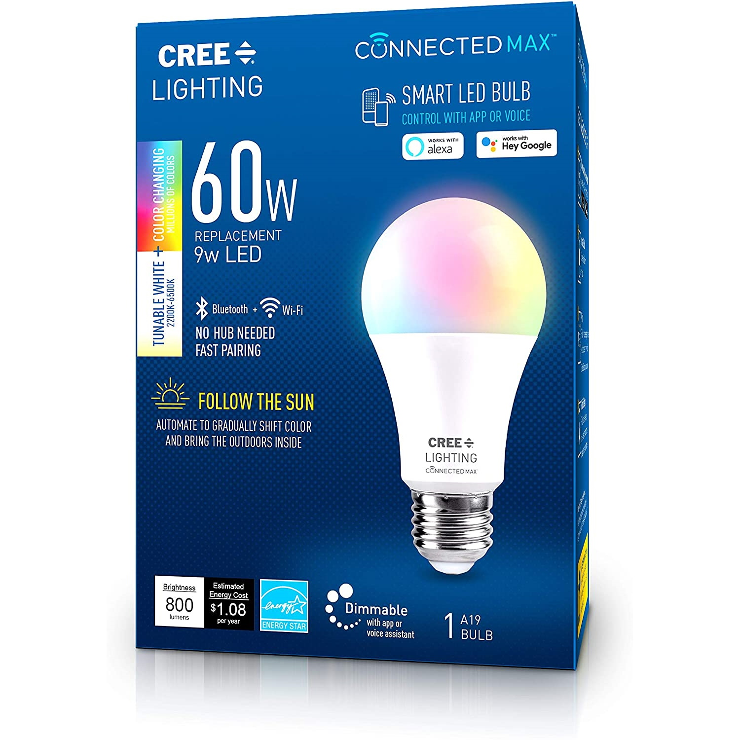 Cree Connected Max RGBW A19 60W