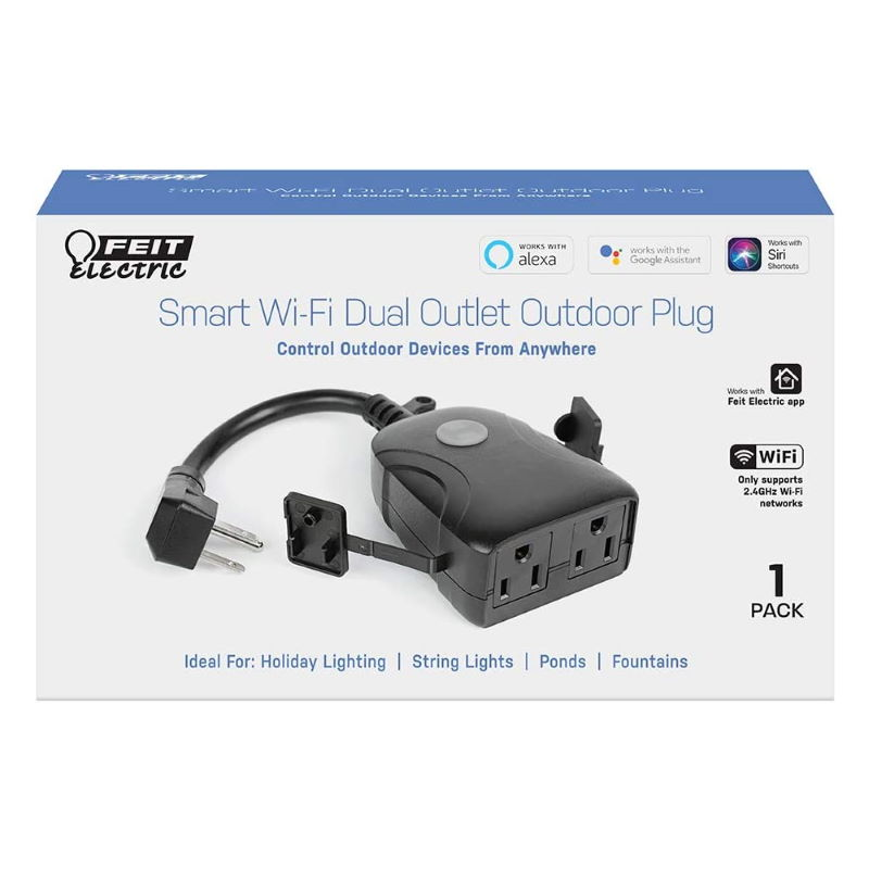 Feit Electric Dual Outdoor Outlet PLUG/WIFI/WP
