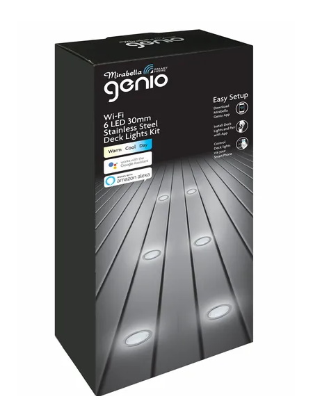 Mirabella Genio CCT 6 LED 30mm Stainless Steel Deck